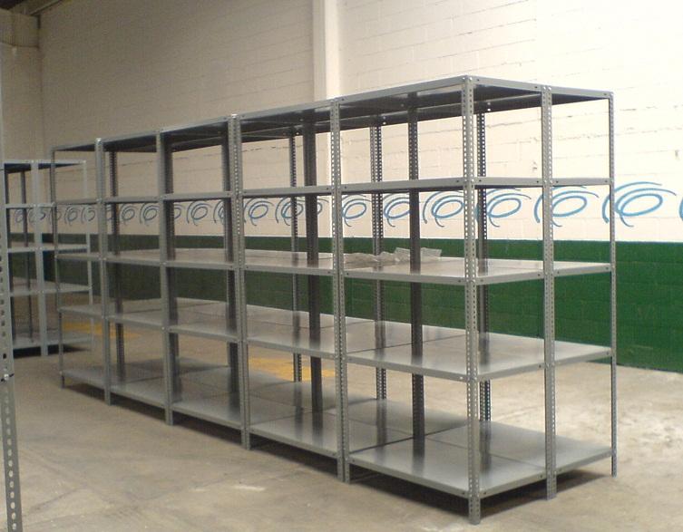 Estantes metalicos estantes y racks hch industrial - Medidas estanterias metalicas ...